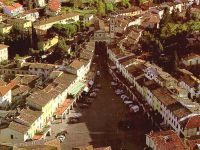 Aerial view of Greve in Chianti