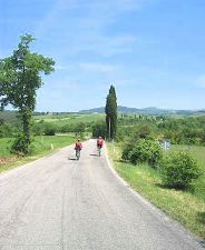The open road - cycling in Tuscany!